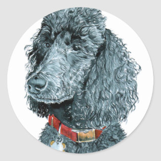 Black Poodle Whitney Stickers