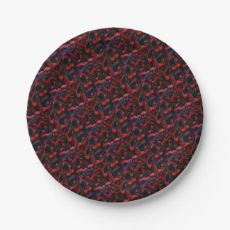 Black Poppies Paper Plate