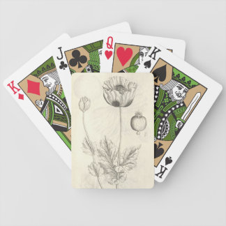 Black Poppy Bicycle Playing Cards