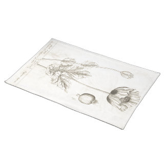Black Poppy Placemat