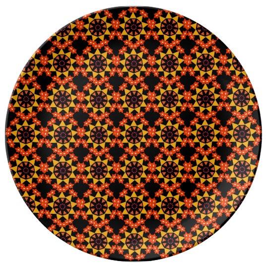 Black Porcelain plate