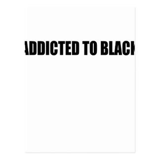 black postcard