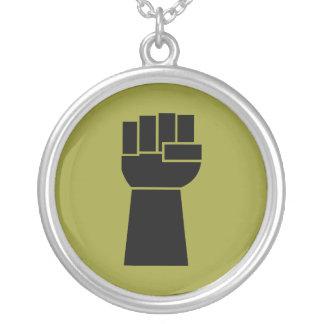 Black Power Black Fist Obama Necklace