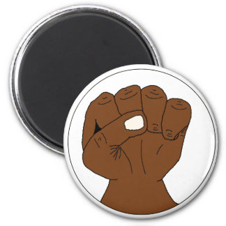 Black Power Fist Magnet