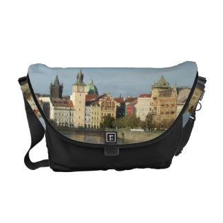 Black Prague Vtlava River Messenger Bag Black Trim