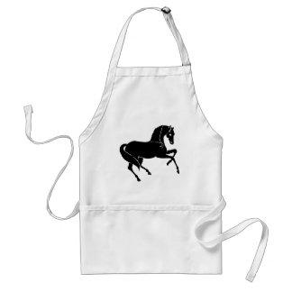 Black Prancing Horse Standard Apron