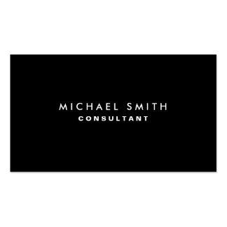 Black Professional Elegant Modern Plain Simple Pack Of Standard Business Cards