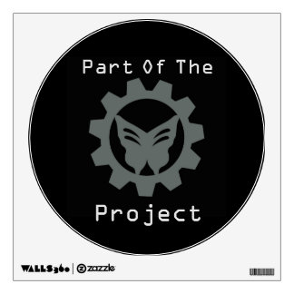 Black Project Logo Wall Decal 4