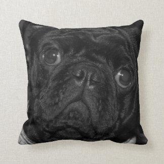 Black Pug cushion