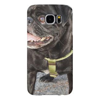 Black Pug Dog Samsung Galaxy S6 Cases
