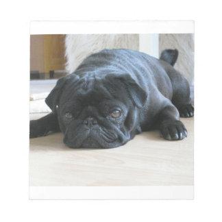 black pug flat notepad