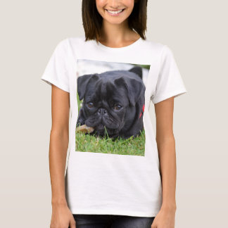 black pug laying T-Shirt