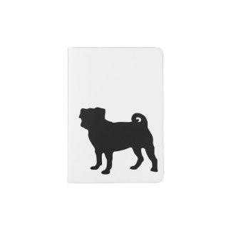 Black Pug Silhouette - Simple Vector Design Passport Holder