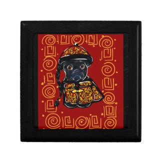 Black Pug Year of the Dog Gift Box