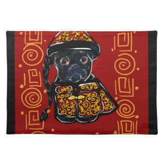 Black Pug Year of the Dog Placemat