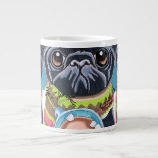 Black Pugs n Chocolate Cozy Winter Giant Coffee Mug