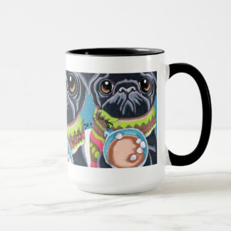 Black Pugs n Chocolate Cozy Winter Mug