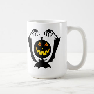 Black Pumpkin Halloween Mug