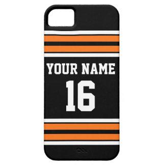 Black Pumpkn Orange Team Jersey Custom Number Name Case For The iPhone 5