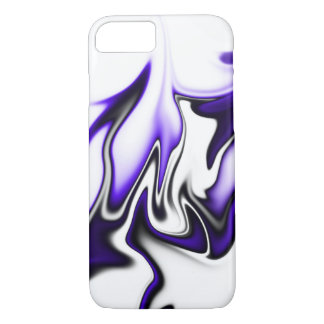Black Purple and White iPhone 7 Case