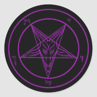 Black/Purple Baphomet Stickers