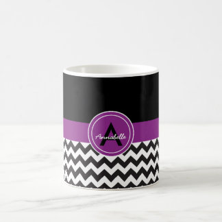 Black Purple Chevron Coffee Mug