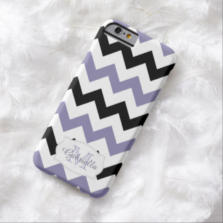 Black & Purple Chevron Personalized: iPhone 6 case
