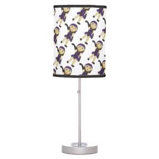 Black Purple Dance Bedroom Decor Jazz Dancer Table Lamp