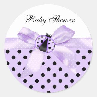 Black Purple Ladybug Stickers