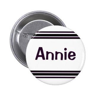 black purple lines 2 inch round button