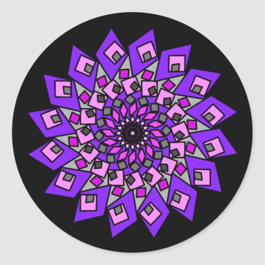 Black Purple Pink Cosmic Diamond Stickers