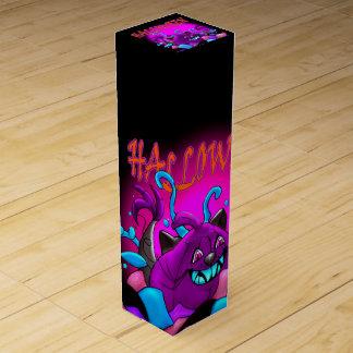 BLACK PURPLE PUMPKIN 2 WINE GIFT BOX Monster