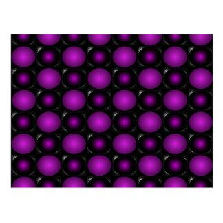 Black & Purple Spheres 3D Textured Design Postcard