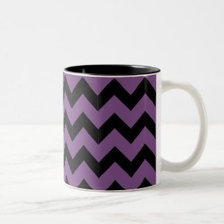 Black & Purple Zig Zag Mug
