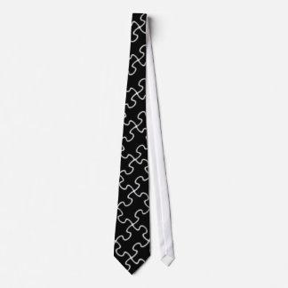 black puzzle pattern tie