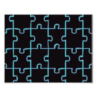 Black Puzzle Photo Print