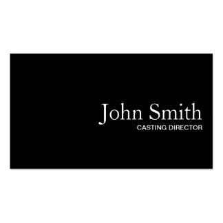 Black QR Code Casting Director Business Card