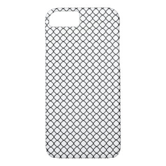 Black Quatrefoil Pattern White iPhone 8/7 Case