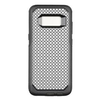 Black Quatrefoil with White Background OtterBox Commuter Samsung Galaxy S8 Case