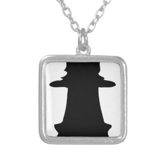 Black Queen Silver Plated Necklace