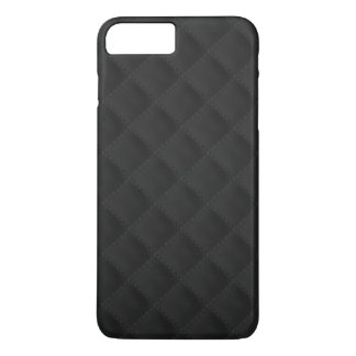 Black Quilted Leather iPhone 8 Plus/7 Plus Case
