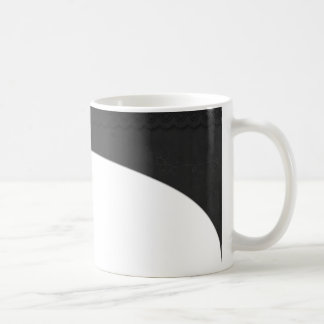 Black race/lace handle coffee mug
