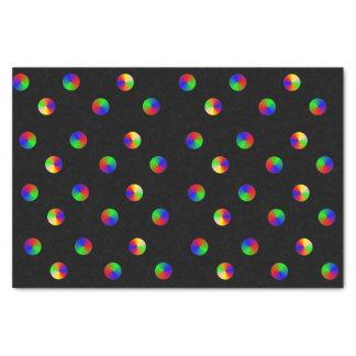 Black Rainbow Dots LGBT Gay Pride Tissue Paper