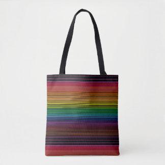 black rainbow tote bag