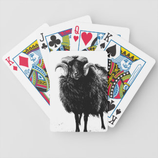Black Ram Bicycle Playing Cards
