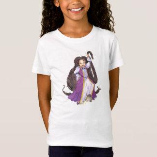 Black Rapunzel with Twists Girls tshirt