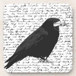 Black raven beverage coaster