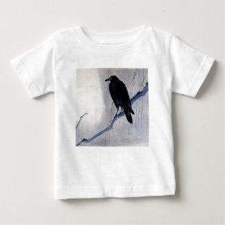Black Raven Bird Antique Baby T-Shirt