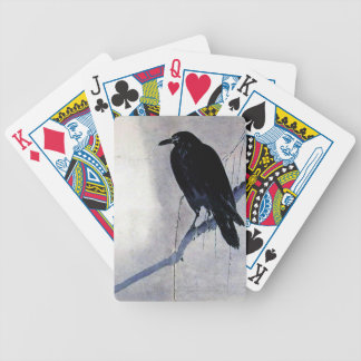 Black Raven Bird Antique Bicycle Playing Cards