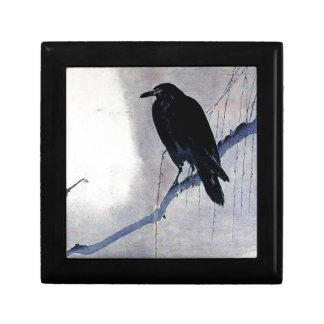 Black Raven Bird Antique Gift Box
